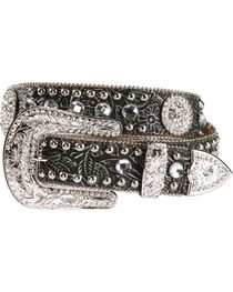 Nocona Women's Floral Embossed Western Belt, , hi-res