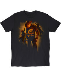 Wrangler Boys' Black Long Live Cowboys T-Shirt , , hi-res