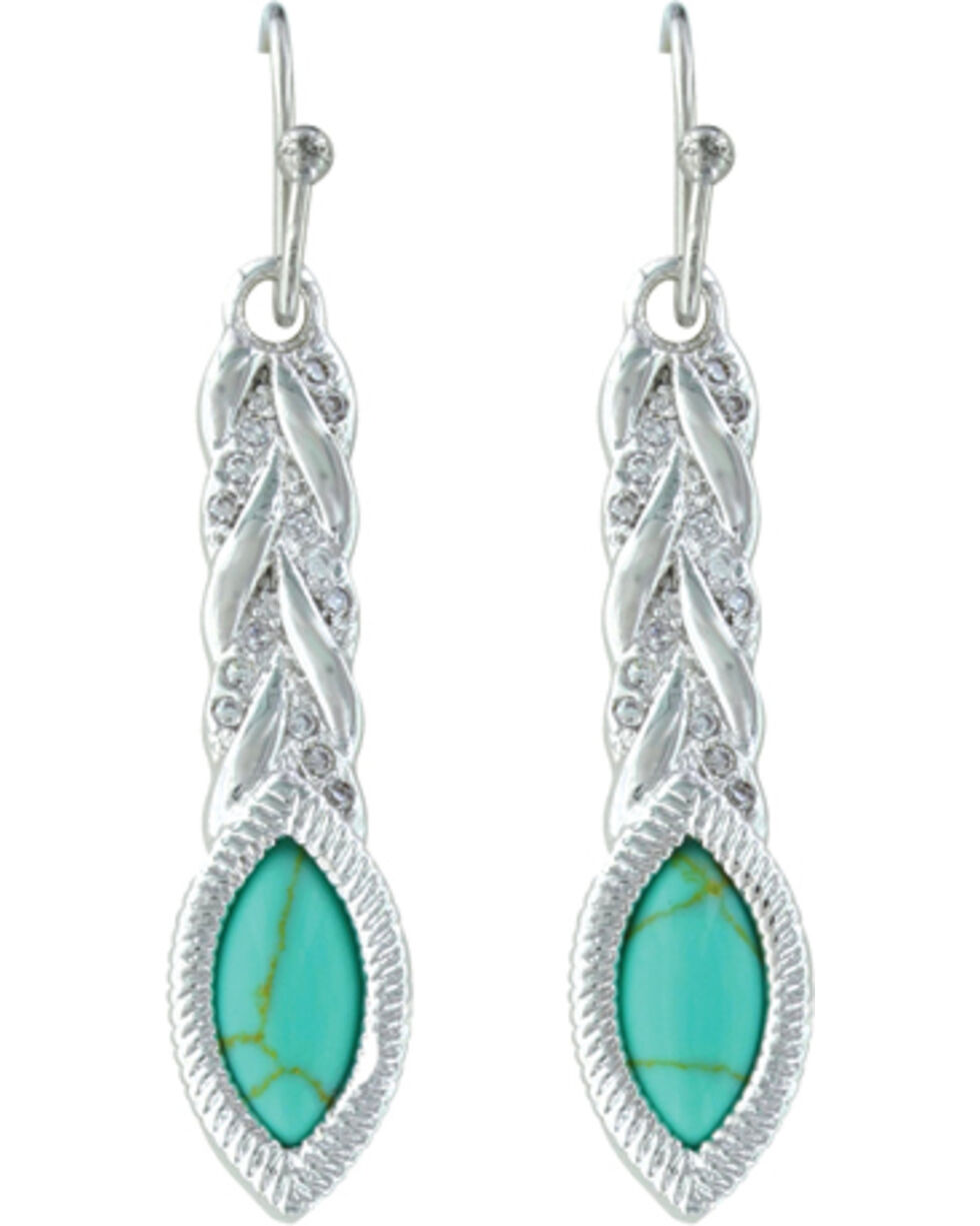 Montana Silversmiths Women's Woven Lights On Earth Earrings , Silver, hi-res