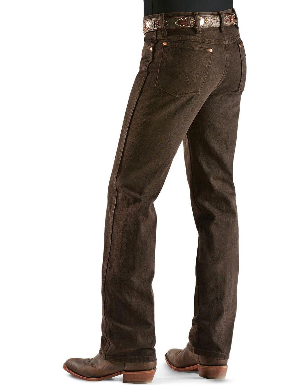 Wrangler Men's Slim Fit 936 Cowboy Cut Jeans, Chocolate, hi-res