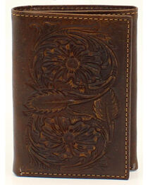 Ariat Floral Embossed Tri-Fold Wallet, , hi-res