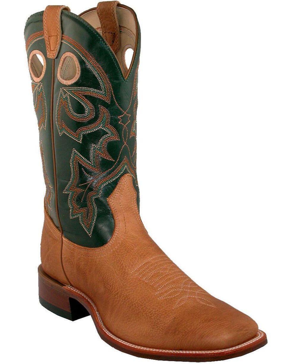 """Boulet Men's 12"""" Wide Square Toe Stockman Heel Boots, Tan, hi-res"""
