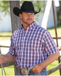 Cinch Men's Multi Woven Tri-Blend Short Sleeve Shirt , , hi-res