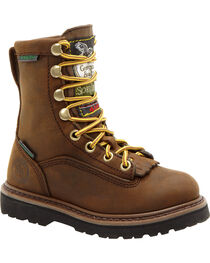 Georgia Boys' Insulated Outdoor Waterproof Lace-Up Boots, , hi-res