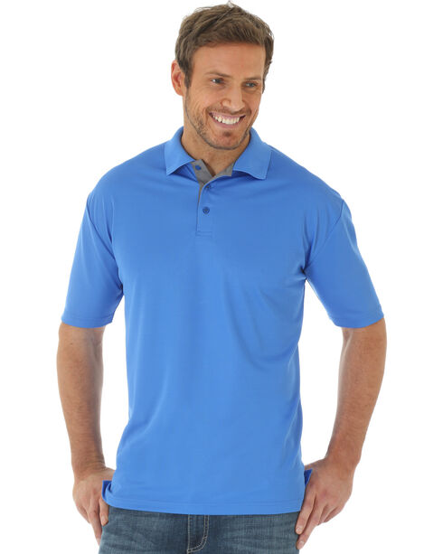 Wrangler Men's Blue 20X® Advanced Comfort Performance Polo, Blue, hi-res