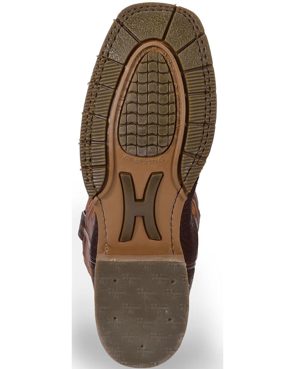 """Double-H Men's 12"""" Western Work Boots, Rust, hi-res"""