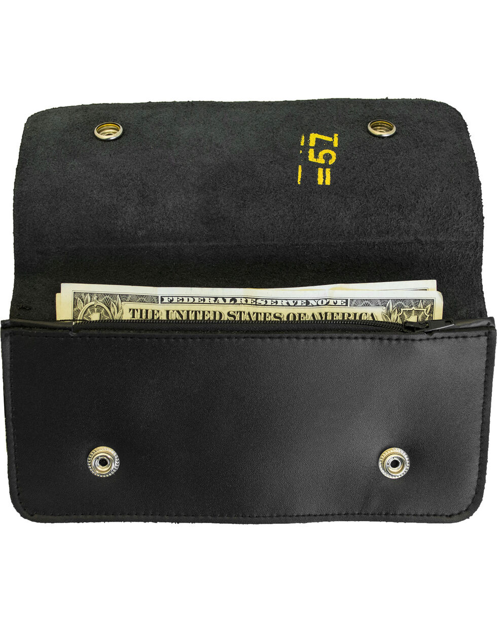 Western Express Men's Black Leather Biker Wallet , Black, hi-res