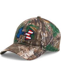 Under Armour Men's Camo Flag Ball Cap, , hi-res