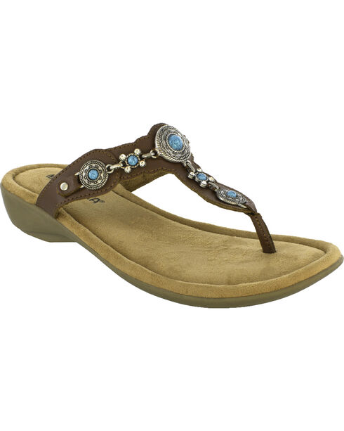 Minnetonka Women's Boca Thong III Sandals, , hi-res
