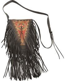 Kobler Leather Black Painted Handbag, , hi-res