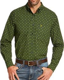 Ariat Men's Green Sherman Print Long Sleeve Shirt , , hi-res