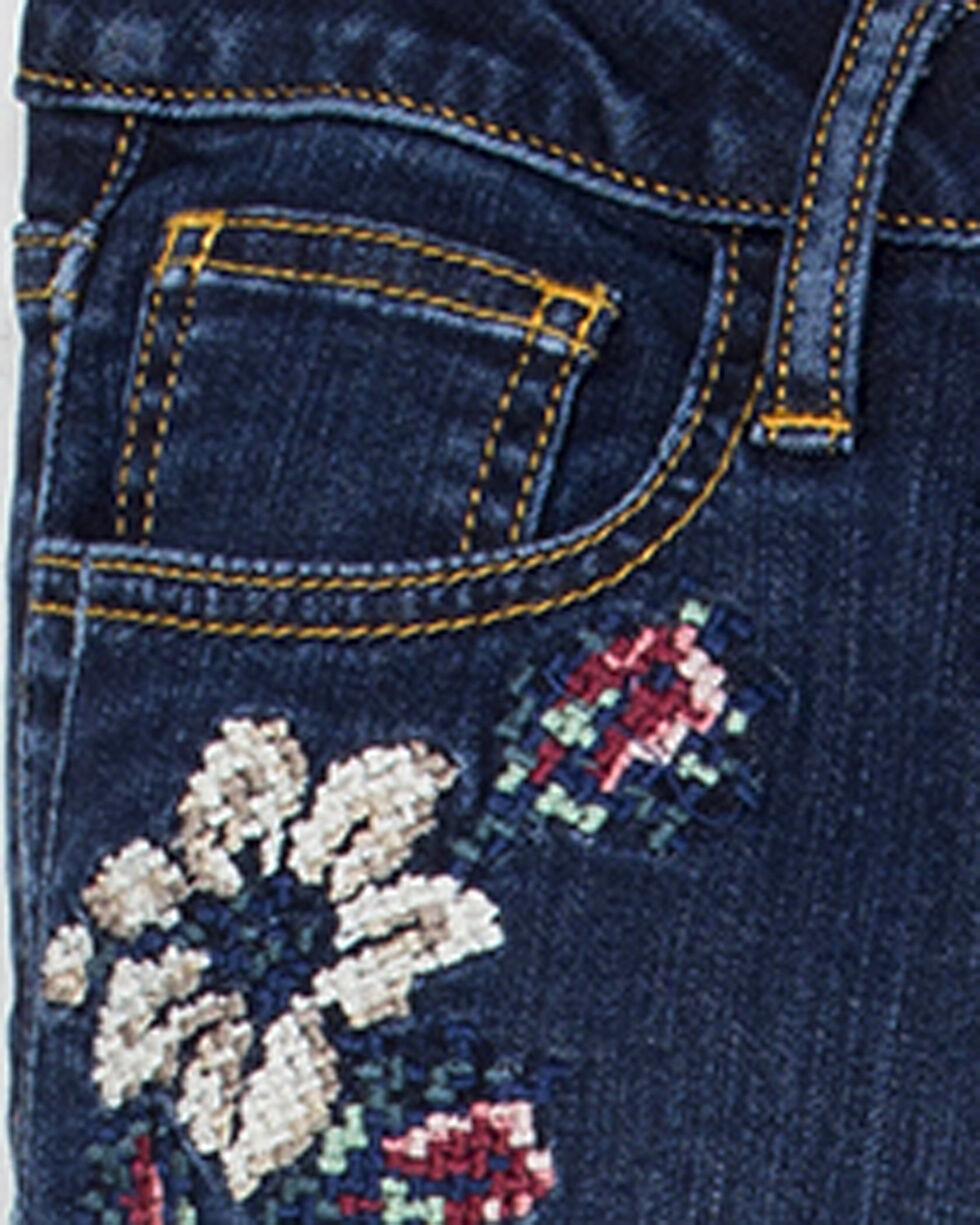 Miss Me Girls' Sweet Sentiments Ankle Skinny Jeans, Indigo, hi-res