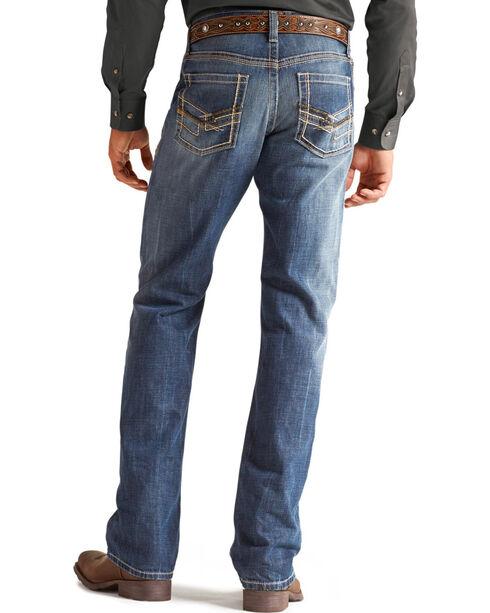 Ariat Men's Tornado Boot Cut Jeans, Med Stone, hi-res