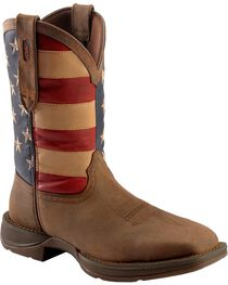 Rebel by Durango Men's Steel Toe American Flag Western Work Boots, , hi-res