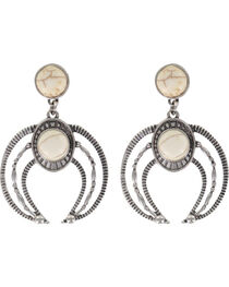 Shyanne® Women's Moonlight Engraved Earrings , , hi-res