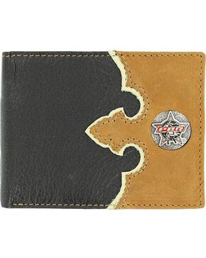 PBR Concho Leather Billfold, Black, hi-res