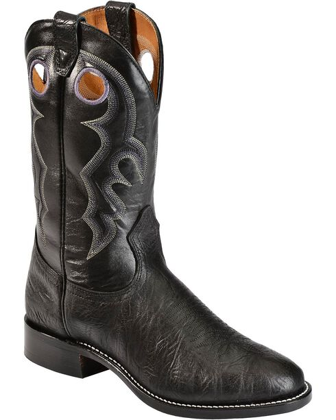 "Boulet Men's 12"" Round Toe Super Roper Boots, Black, hi-res"