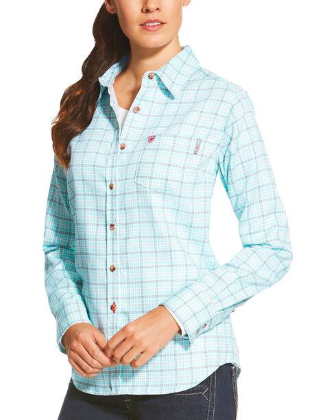 Ariat Women's Blue FR Rockford Work Shirt, , hi-res