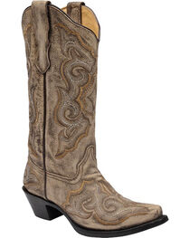 Corral Women's Distressed Western Boots, Brown, hi-res