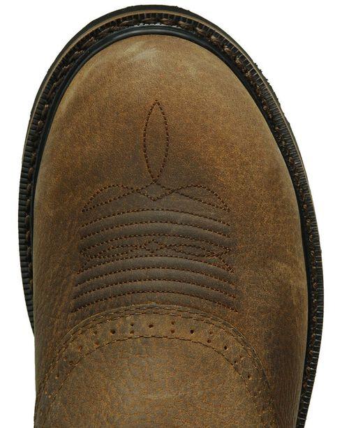 Justin Men's Stampede Work Boots, Copper, hi-res