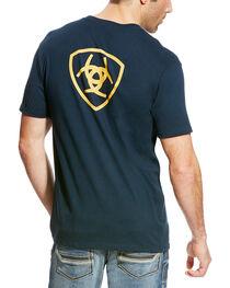 Ariat Men's Navy Corporate Logo Athletic T-Shirt , , hi-res