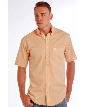 Rough Stock by Panhandle Men's Democracy Vintage Shirt , Orange, hi-res