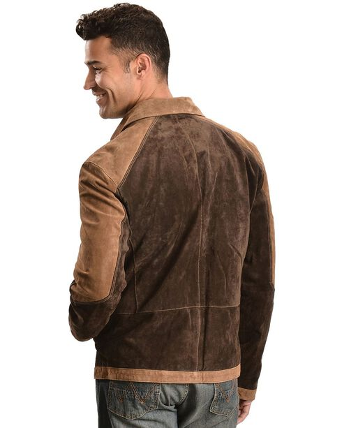 Scully Suede Colorblock Jacket, Brown, hi-res