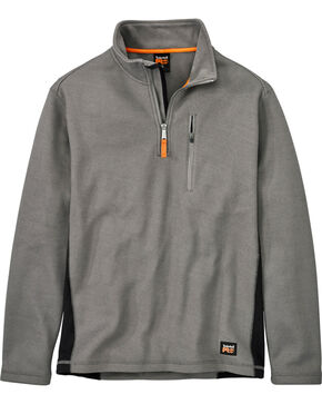 Timberland Men's Studwall Textured 1/4 Zip Fleece Pullover , Steel, hi-res