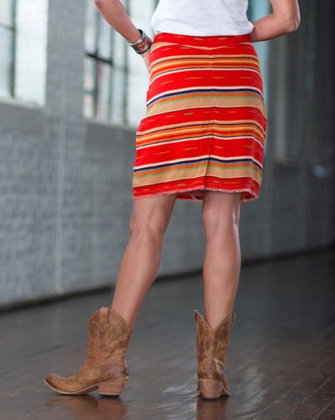Ryan Michael Women's Red Serape Skirt , Red, hi-res