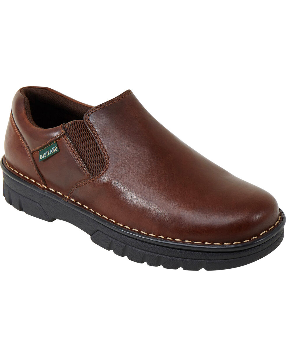 Eastland Men's Brown Newport Slip-On Shoes , Tan, hi-res