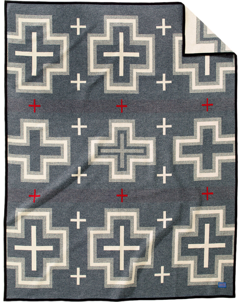Pendleton Charcoal San Miguel Robe Blanket , Charcoal, hi-res