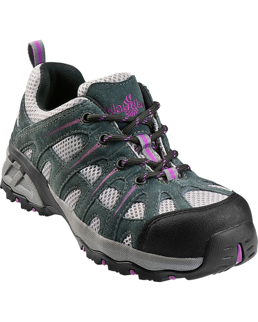 Nautilus Women's Composite Toe EH Athletic Work Shoes, Grey, hi-res