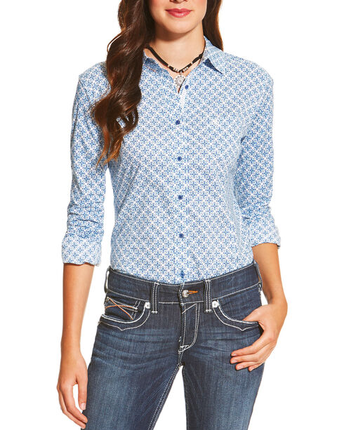 Ariat Women's Kirby Long Sleeve Shirt, Multi, hi-res