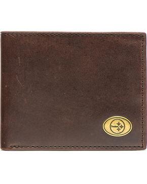 Jack Mason Men's Pittsburgh Steelers Legacy Traveler Wallet , Brown, hi-res
