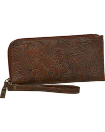 STS Ranchwear Chocolate Floral Clutch Wallet, , hi-res