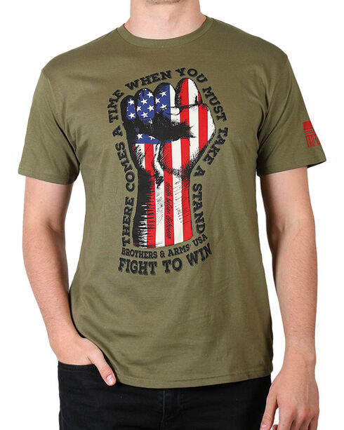 Brothers & Arms  Men's Fight to Win T-Shirt, Green, hi-res