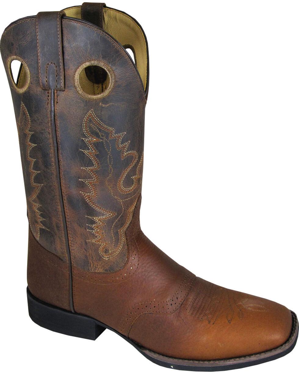 Smoky Mountain Men's Luke Cowboy Boots - Square Toe, Brown, hi-res