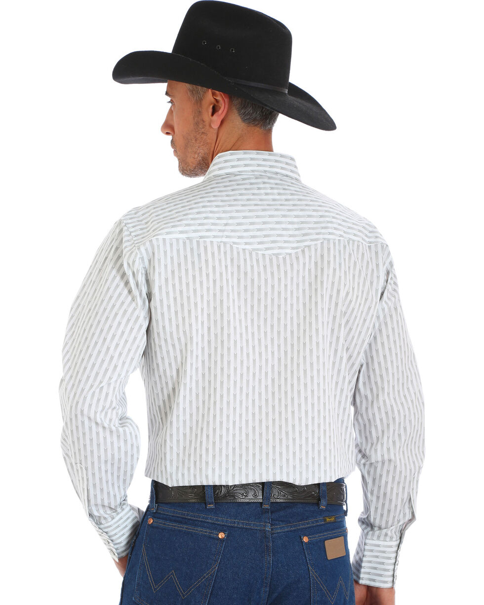 Wrangler Men's White Silver Edition Long Sleeve Shirt , White, hi-res