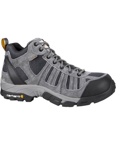 Carhartt Lightweight Waterproof Hiking Boots - Composition Toe, Grey, hi-res