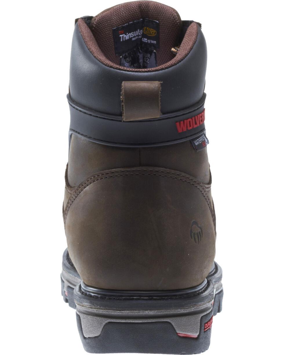 Wolverine Men's Waterproof Plus Durashock Work Boots, Brown, hi-res