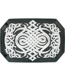 Montana Silversmiths Western Celtic Knot Buckle , , hi-res