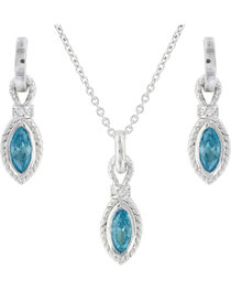 Montana Silversmiths Women's Roped Aqua Jewelry Set, , hi-res