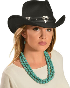 Julia Cowgirl Hat, Black, hi-res