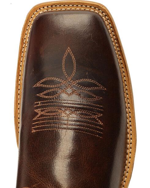 Old West Men's Brown Western Cowboy Boots - Square Toe, Brown, hi-res