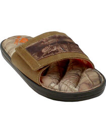 Double Barrel Men's Mossy Oak Slide-On Sandals, , hi-res