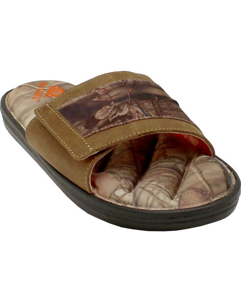 Double Barrel Men's Mossy Oak Slide-On Sandals, Mossy Oak, hi-res