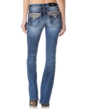 Miss Me Women's Dream On Mid Rise Boot Cut Jeans, Indigo, hi-res