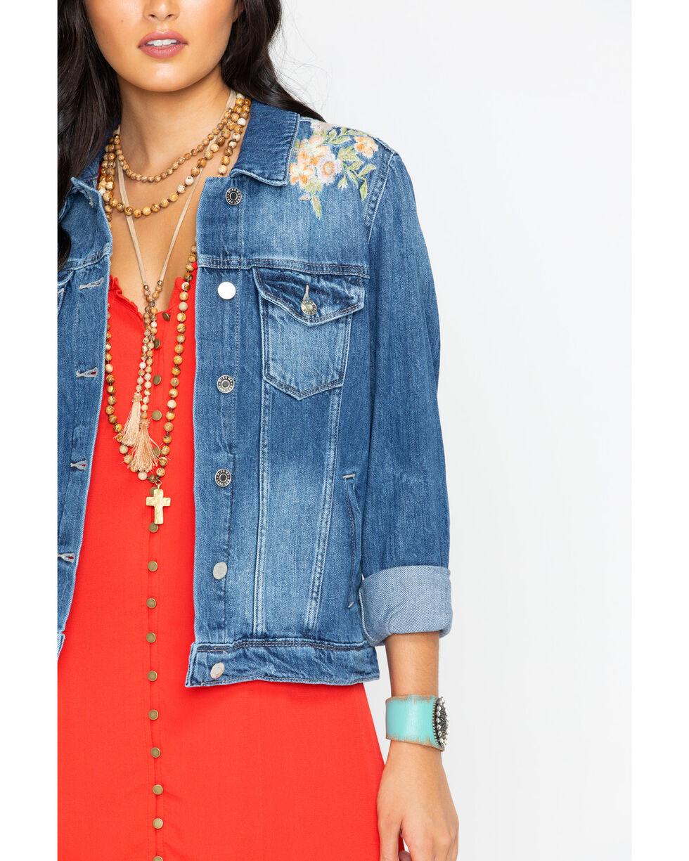 Miss Me Women's Indigo Spring Street Denim Jacket , Indigo, hi-res
