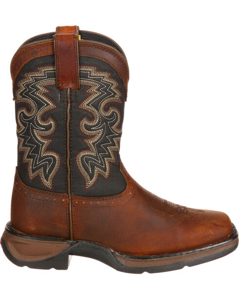 Durango Toddler Boys' Raindrop Western Boots, Tan, hi-res