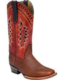 Ferrini Women's Apache Embroidered Western Boots - Square Toe , , hi-res